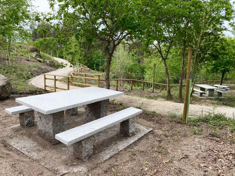 Mirador Regha Pieira Parque Forestal da Fracha Guíate Galicia