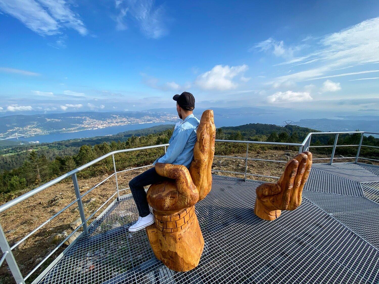 Mirador Monte do Faro, Domaio Guíate Galicia